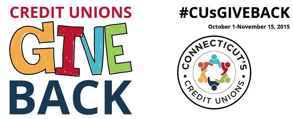#CUsGiveback connecticut credit unions
