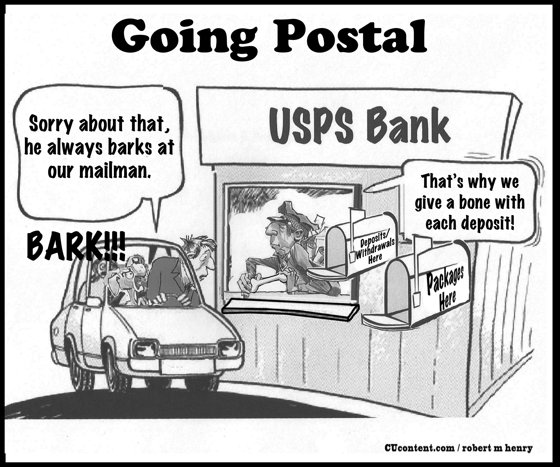 Going Postal: Editorial Cartoon